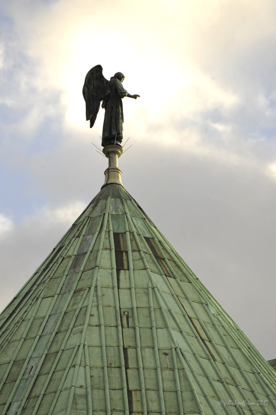 Weathervane on the roof at Chartres Cathedral by photographer Jill K H Geoffrion