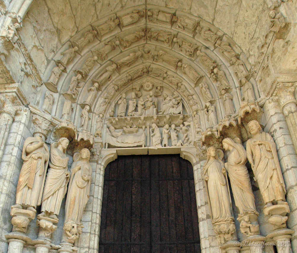 The Northeast Portal at Chartres Cathedral by photographer Jill K H Geoffrion
