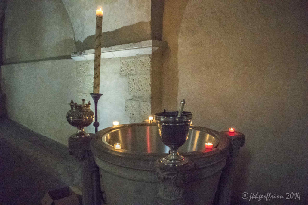 Baptistry, 12th century of Chartres Cathedral by photographer Jill K H Geoffrion