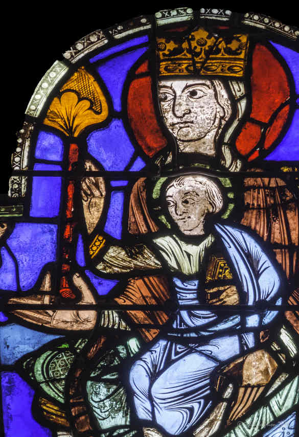 Mary and Jesus during the visit of the Magi at Chartres Cathedral by photographer Jill K H Geoffrion