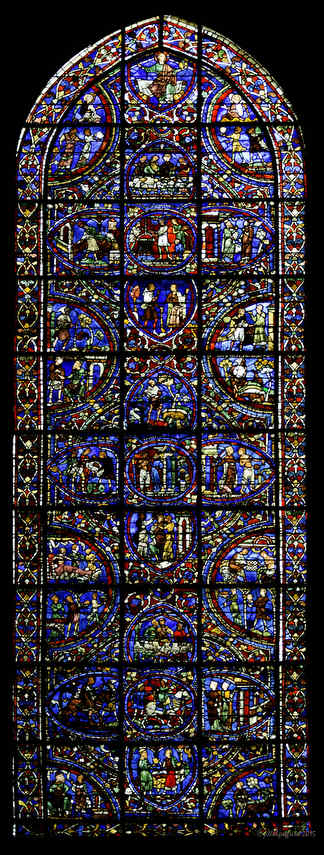 Prodigal Son Window at Chartres Cathedral by photographer Jill K H Geoffrion