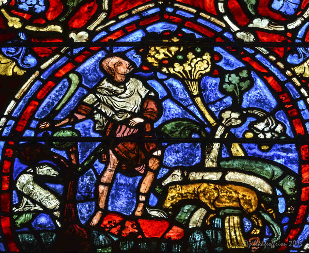 Prodigal son tending the swine at Chartres Cathedral by photographer Jill K H Geoffrion