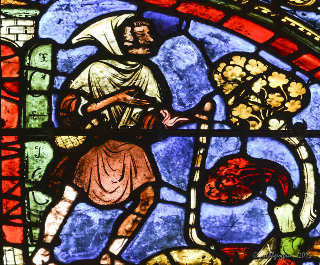 Prodigal son making his way home at Chartres Cathedral by photographer Jill K H Geoffrion