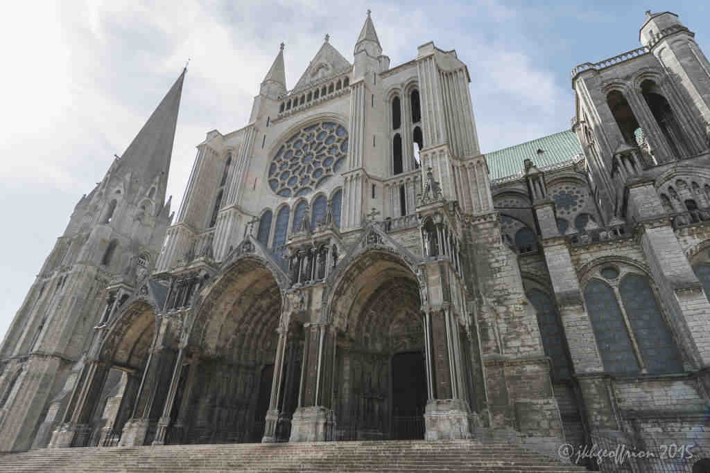 The South Porch of Chartres Cathedral by Jill K H Geoffrion