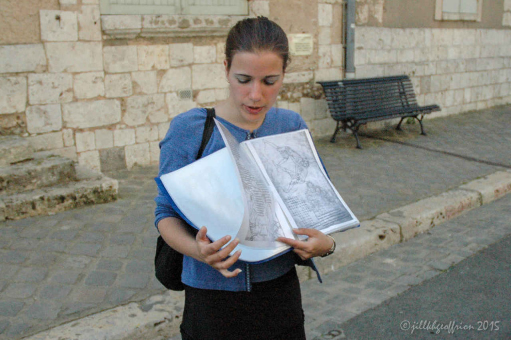 Guide from the Tourist Office in Chartres by photographer Jill K H Geoffrion