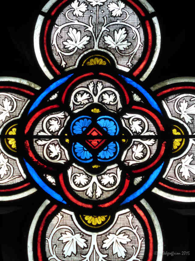Grisaille Window, Vendôme Chapel at Chartres Cathedral by photographer Jill K H Geoffrion
