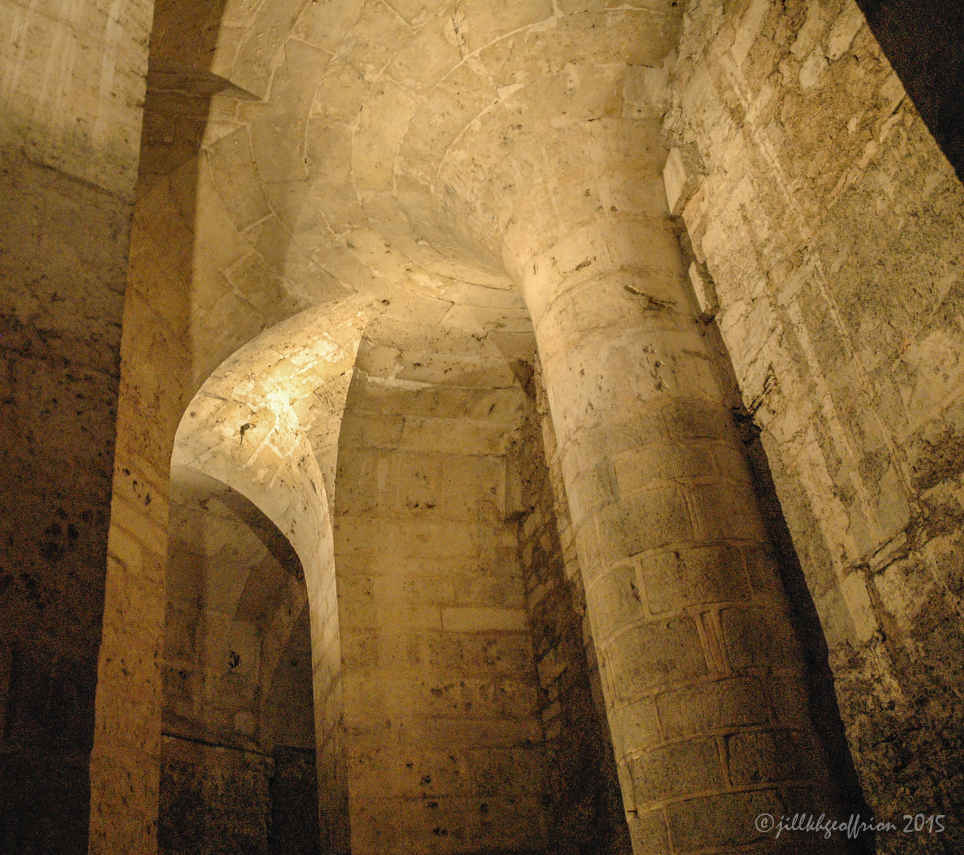 The St. Lubin Crypt of the Chartres Cathedral by photographer Jill K H Geoffrion