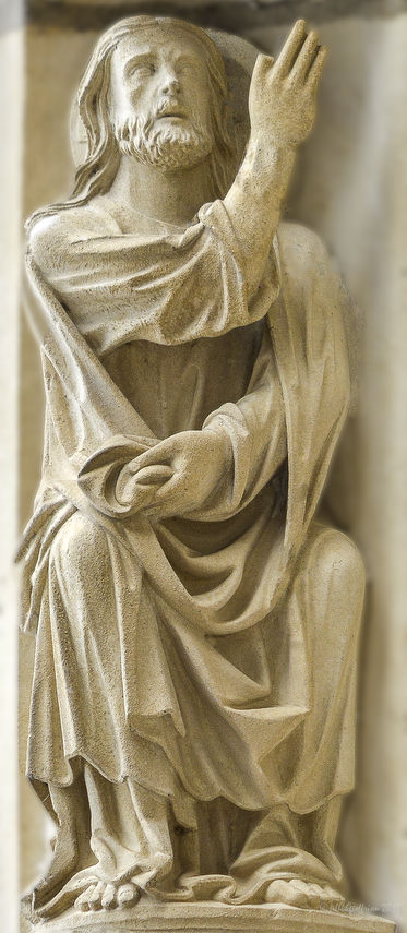 God creating the Garden of Eden at Chartres Cathedral by photographer Jill K H Geoffrion