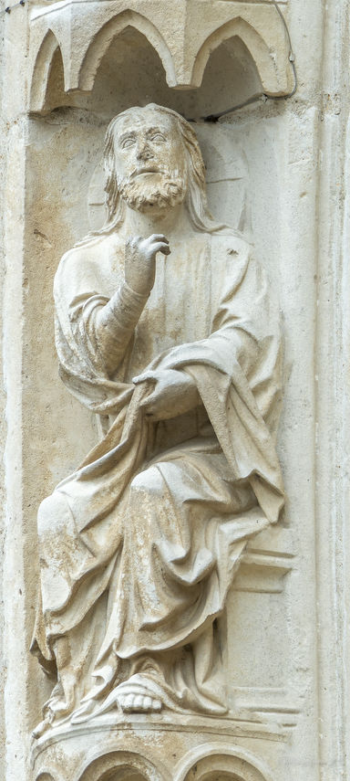 God separating the waters at Chartres Cathedral by photographer Jill K H Geoffrion