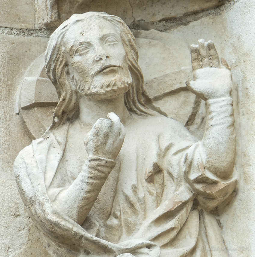 God in the beginning at Chartres Cathedral by photographer Jill K H Geoffrion