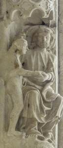 Creation of Eve at Chartres Cathedral by photographer Jill K H Geoffrion