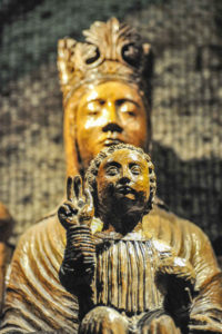 Statue of Mary and Jesus in the crypt of Chartres Cathedral, France, Notre Dame Sous Terre by Jill Geoffrion