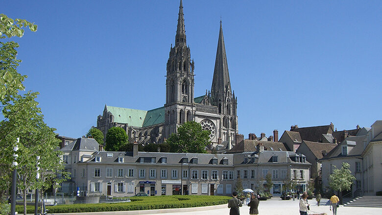 Approaching Chartres Cathedral by Jill K H Geoffrion
