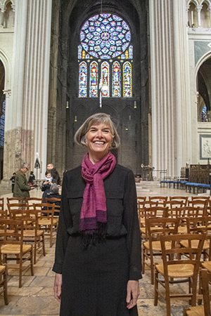 Jill Geoffrion and North Rose Window, Chartres Cathedral