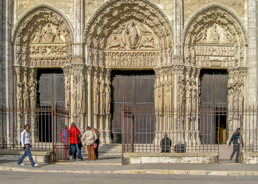 West facade of Chartres Cathedral by photographer Jill Geoffrion