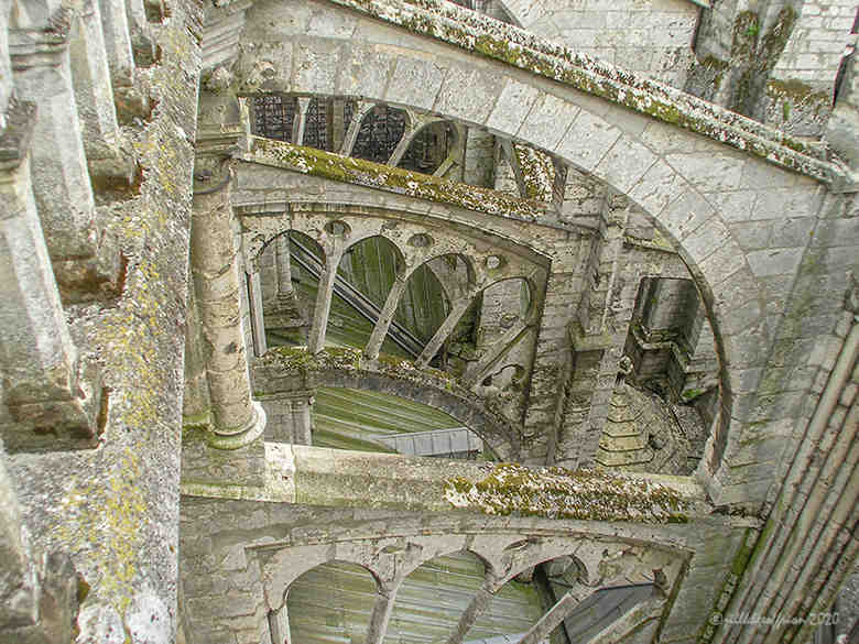 Flying Buttresses at Chartres by Jill K H Geoffrion