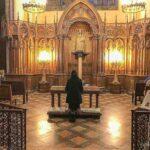 Praying, Notre Dame du Pilier Chapel Chartres
