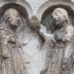 Visitation, W Capital Frieze, Chartres Cathedral