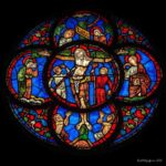 Crucifixion window at Chartres Cathedral by Jill K H Geoffrion