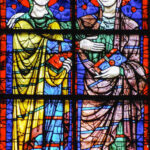 Visitation, East Window, Chartres by Jill Geoffrion