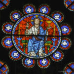 Christ, The South Rose, chartres by Jill Geoffrion