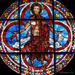 Risen Christ, W Rose, Chartres Cathedal by Jill Geoffrion