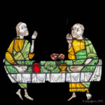 Eating in Emmaus, Chartres by Jill Geoffrion