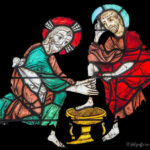 Jesus washes Peter's Feet, Chartres by Jill Geoffrion