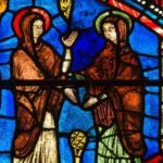 Visitation, Life of Mary, Chartres, Jill Geoffrion