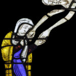 Mary holds Jesus's hands after his death, Chartres by Jill Geoffrion