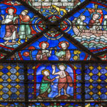 Thomas met by Risen Christ, Chartres by Jill Geoffrion
