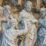 Thomas Touches Christ's Wound, Chartres by Jill Geoffrion