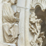 God creating plants, Chartres by Jill Geoffrion