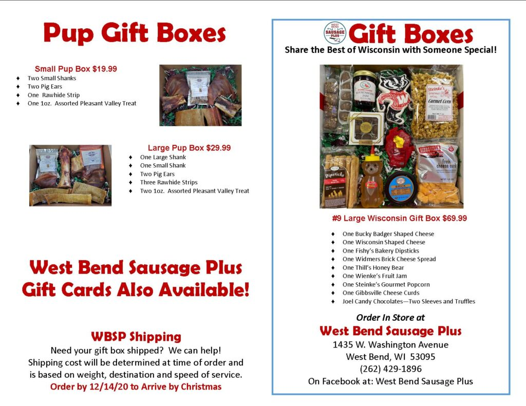 Gift Box Brochure Front Page