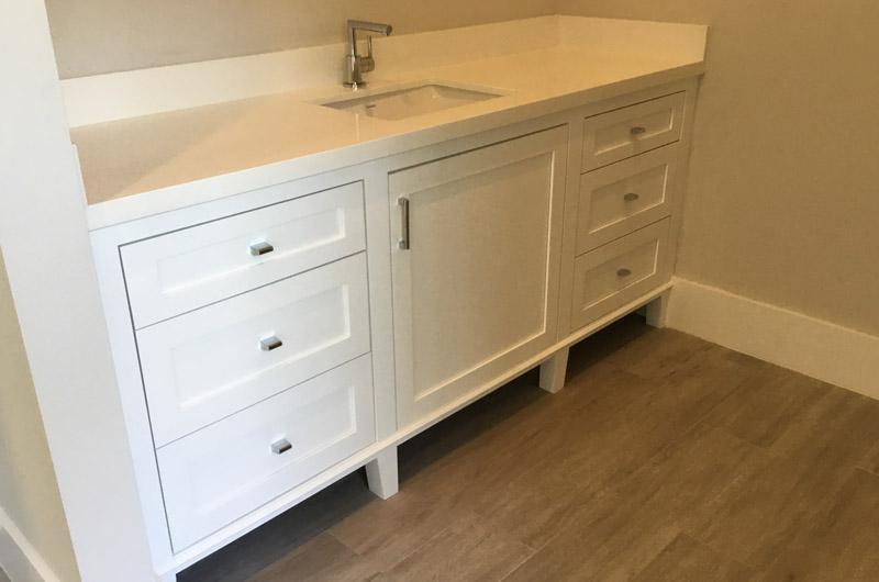 White Bathroom Single Sink Cabinet