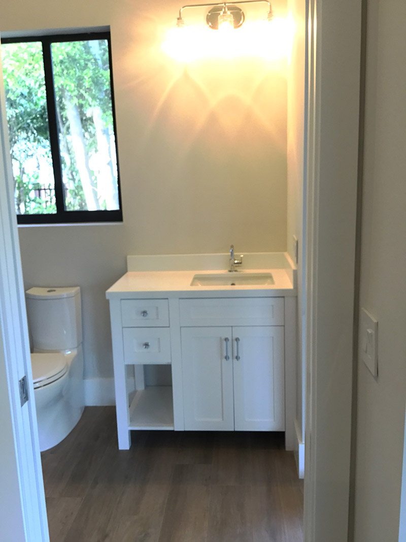 Two Drawer White Bathroom Cabinet