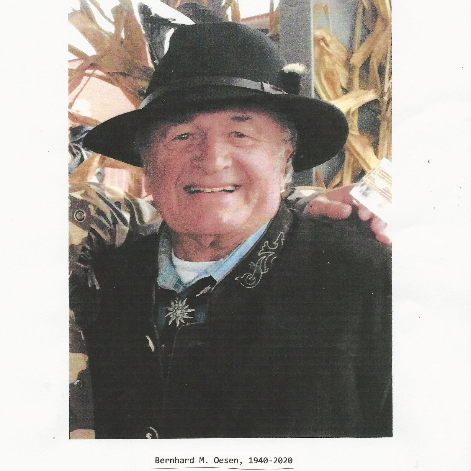 Photo of Bernhard Oesen in a black hat