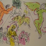 Chagall Sketch for Moussorgsky and Mozart
