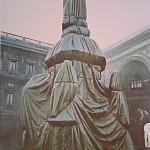 Wrapped Monument to Leonardo, Milan