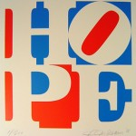 Hope, silkscreen by Indiana