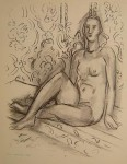 Seated Nude Against Wall
