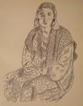 Seated Woman in Robe
