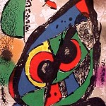 Miro Lithograph IV, Number I