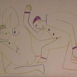Clown & Nude Woman V