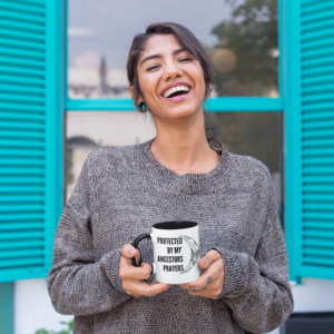 Happy Woman Holding Mug
