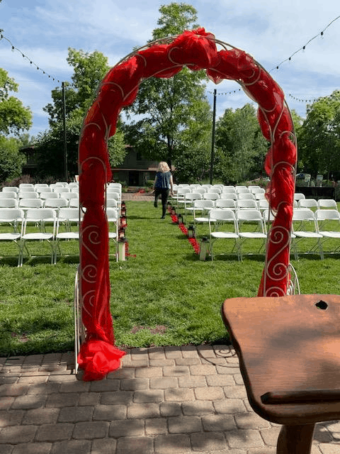 Metal Scroll Arch-White Image