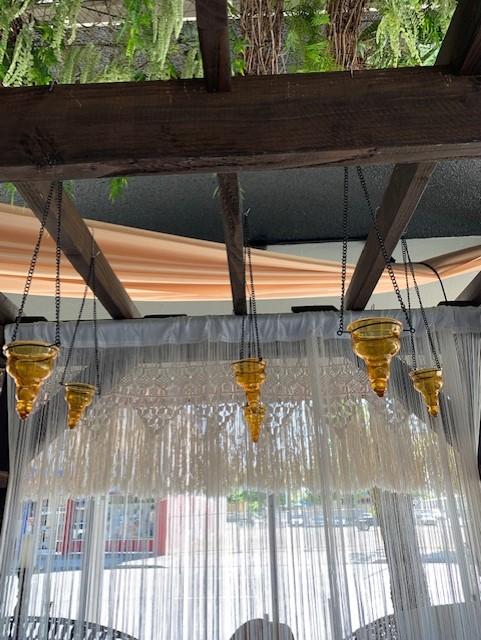 Votive, Hanging Amber Tear Drop Image