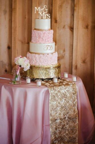 Cake Table with Pink  Gold