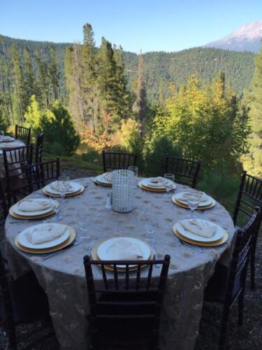 Champange linen guest table decor