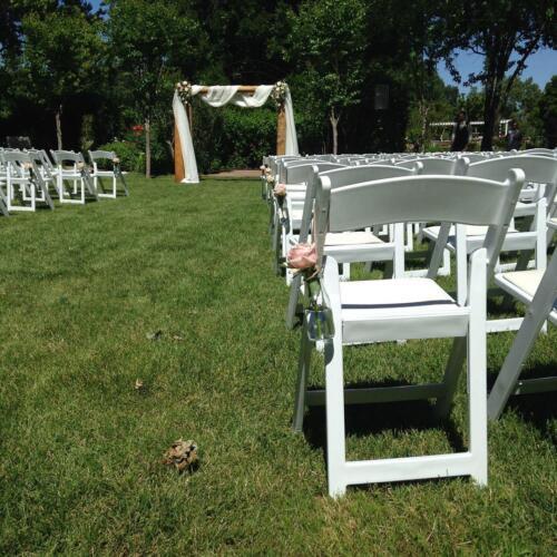 Rustic Rose Wedding ceremony